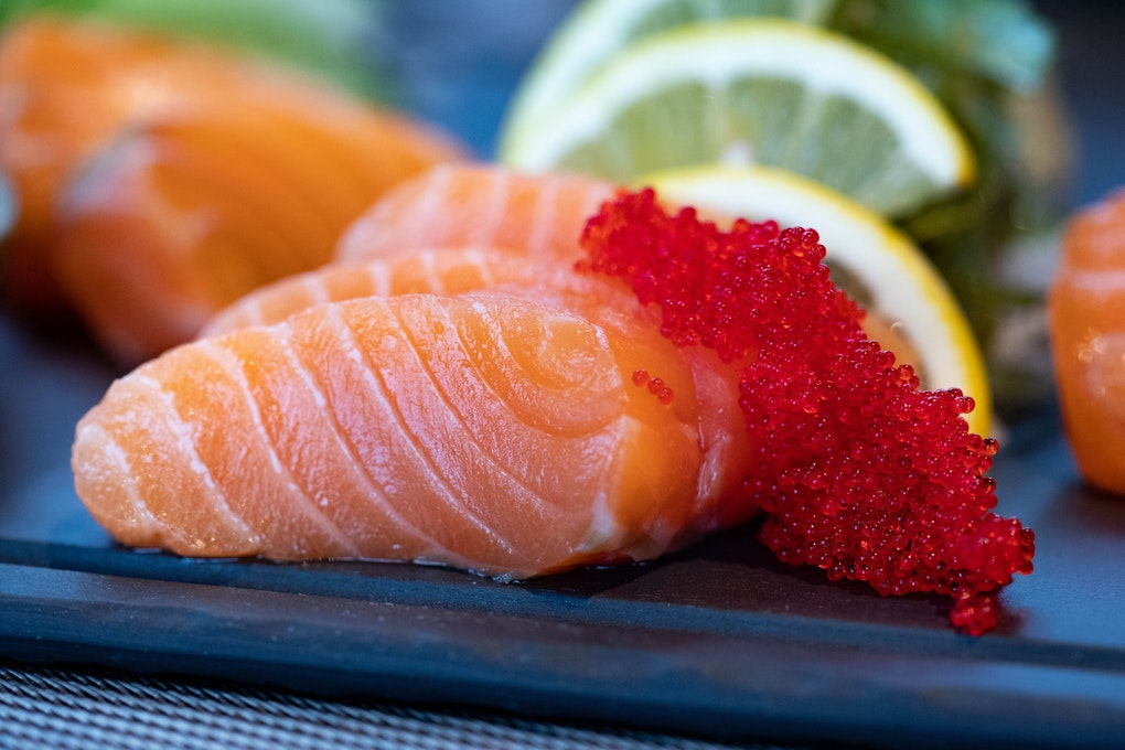 salmon keeps skin supple, radiant and young.