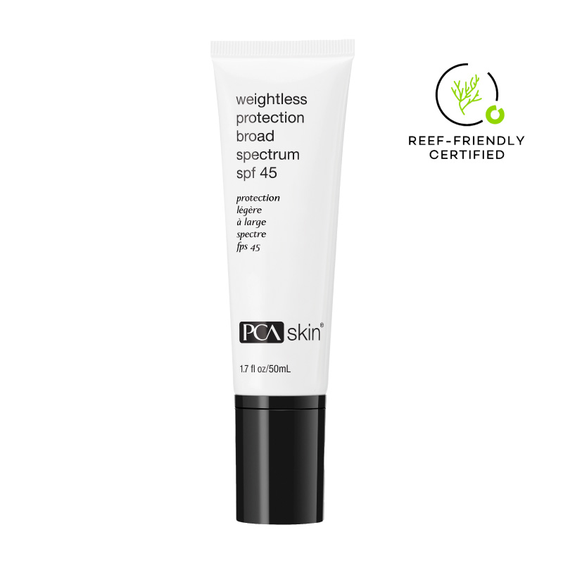 pca weightless protection spf 45